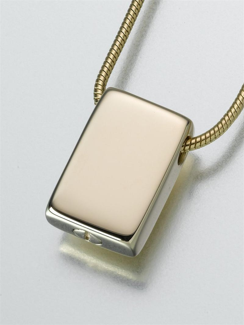 pet keepsake jewelry rectangle 14k pet cremation keepsake